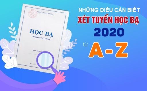Xét tuyển học bạ mới nhất 2020